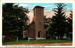 Iowa Bradford The Little Brown Church In The Vale 1924 Curteich - Etats-Unis