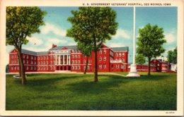 Iowa Des Moines U S Government Veterans' Hospital  Curteich - Des Moines