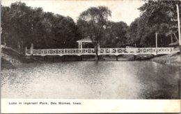 Iowa Des Moines Lake In Ingersoll Park 1910 - Des Moines