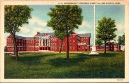 Iowa Des Moines U S Government Veterans Hospital Curteich - Des Moines