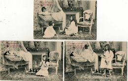 3 CPA. Par Prince - Fête Des Enfants - Prière - Jouets - Scan Du Verso -  Royer Nancy - - Illustrateurs & Photographes