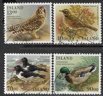 Iceland 1987   Sc#642-5  Birds Set Of 4  Used  2016 Scott Value $3.80 - Ducks