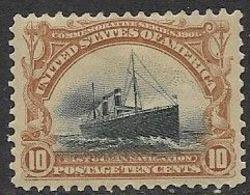 US   1901    Sc#299  10c Passenger Ship   MH  2016 Scott Value $115 - Nuevos