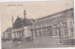 Mechelen - Station (zwart-wit En Gelopen Kaart Met Zegel) - Malines
