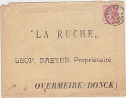 Brief Verstuurd Uit Antwerpen Naar Imker In Overmere-Donk - Stamped Stationery