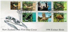 New Zealand 1996 Extinct Birds FDC - FDC