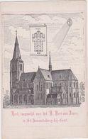 Gent - Deelgemeente Sint-Amandsberg - Kerk Toegewijd Aan Het Heilig Hert Van Jezus (niet Gelopen Kaart) - Gent