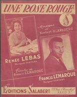"""""""Une Rose Rouge"""" Renée Lebas, Francis Lemarque - Musique Norbert Glanzberg, Paroles Francis Lemarque. - Musica & Strumenti"""
