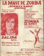 """La Danse De Zorba"" (Zorba's Dance Sirtaki) Dalida - Paroles Françaises Françoise Dorin, Musique Mikis Theodorakis - Musica & Strumenti"