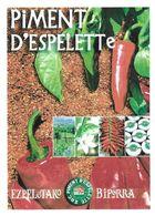 PIMENT D ESPELETTE, FLEURS, FROMAGE - PAP ENTIER POSTAL FLAMME LA POSTE 2010, VOIR LES SCANNERS - Vegetables