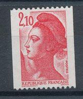 2322** Liberté 2,10f. Rouge (roulette) - France