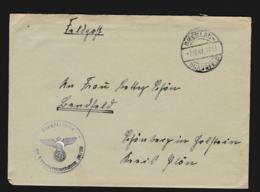 German Feldpost WW2: From Psie Pole In Wroclaw (Poland) - Heimatsperrfeuerbatterie 201/VIII In Breslau-Hundsfeld - WW2