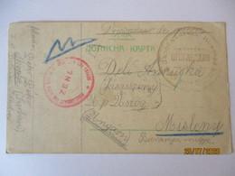 Nordmazedonien Skopje, POW Mail Kriegsgefangenenpost 1915 Nach Misleny (4623) - War 1914-18
