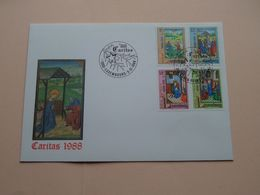 CARITAS 1988 ( Enveloppe ( FDC 288 N° 014878 ) Omslag > Voir Photo Svp ) Luxembourg ! - FDC