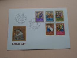 CARITAS 1987 ( Enveloppe ( FDC 278 N° 020234 ) Omslag > Voir Photo Svp ) Luxembourg ! - FDC