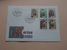 CARITAS 1986 ( Enveloppe ( FDC 270 N° 015413 ) Omslag > Voir Photo Svp ) Luxembourg ! - FDC