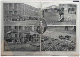 L'assassinat De M. Plehve, Ministre De L'intérieure De Russie Le Coupé Du Ministère Apres L'explosion Page Original 1904 - Historical Documents