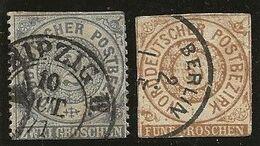 Allemagne Confédération Nord YT 16 Oblit Leipzig 10/10/71+ EP 17  2e Choix - Norddeutscher Postbezirk