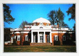 USA  Virginia Jefferson's  House  Années 80s - Etats-Unis