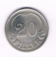 20 FILLER 1926  HONGARIJE /5876/ - Hungría