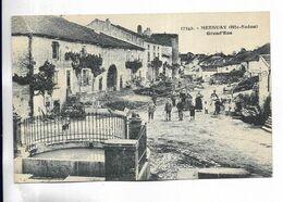 70 -  MERSUAY ( Hte-Saône ) Grand' Rue - Carte Animée Adressée à Balan ( 08 ) - Frankreich