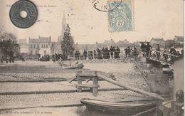 44 - Très Belle Carte Postale Ancienne De  Basse Indre   L'Arrivée Du Bateau - Basse-Indre