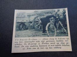 "Origineel Knipsel ( 5332 ) Uit Tijdschrift "" De Stad ""  1937 :   Maercke - Kerkhem   Maarke - Kerkem - Non Classés"