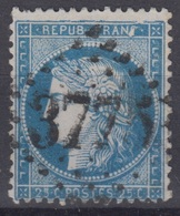 FRANCE : CERES N° 60A GC 3775 STE MERE L'EGLISE - BELLE VARIETE CASSURE DU CADRE SUPERIEUR - 1871-1875 Cérès
