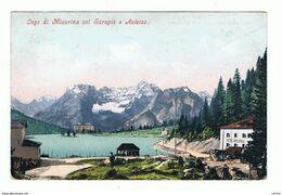 MISURINA (BL):  IL  LAGO  COL  SORAPIS  E  ANTELAO  -  PER  LA  GERMANIA  -  FP - Châteaux D'eau & éoliennes