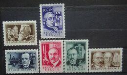 BELGIE 1955    Nr. 973 - 978     Postfris **   CW  42,00 - Unused Stamps