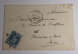Lettre Affranchie à 20c En étoile De Muette Sur N°29b - 1849-1876: Période Classique