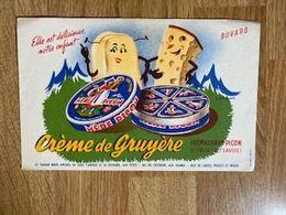 V P : Buvard :  Crème D E Gruyère , ST  FELIX , Haute  Savoie  , Fromagerie  Picon - Löschblätter, Heftumschläge