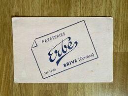 V P : Buvard :  Papeterie   Erbe  à  Brive  , Corrèze - Löschblätter, Heftumschläge