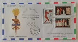 Busta Di Lettera Per Via Aerea Volo Olimpico Atene-Olympia-Roma 12/VIII/1960 - Brieven En Documenten
