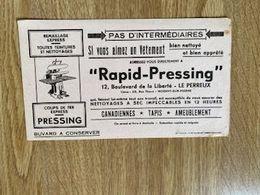 V P : Buvard : Rapid  Pressing , Imp à Mulhouse , Nogent Sur  Marne , LE  PERREUX - Löschblätter, Heftumschläge