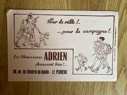 V P : Buvard :  Chaussures  Adrien  , LE  PERREUX - Löschblätter, Heftumschläge