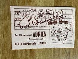 V P : Buvard :   Chussures   Adrien , LE  PERREUX - Löschblätter, Heftumschläge