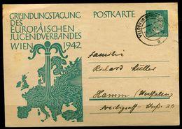 """German Empires/Österreich 1942 GS Mi.Nr.P 309 Mit TST """"Velden Am Wörtersee""""Velden,Österreich-Hamm """"1 GS Used - Stamped Stationery"""