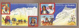 LOT 4 CPA Publicité Produits Du LION NOIR Les Colonies Française ALGERIE MAROC MADAGASCAR AFRIQUE EQUATORIALE - Reclame
