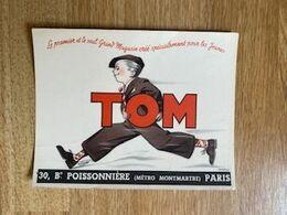 V P : Buvard : Tom , Paris  Pour Les  Jeunes - Löschblätter, Heftumschläge