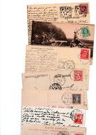 EUROPE....TIMBRES....VOIR DETAIL......LOT DE 48 SUR CPA....VOIR SCAN......LOT 309 - Collections (sans Albums)