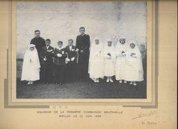 70 - Photographie De Communiants, Prise à MIELLIN ( Hte-Saône )  Le 12 Juin 1938. Studio Gabé, Le Thillot ( 88 ) - Anonymous Persons