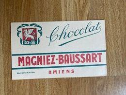V P : Buvard : Chocolat  MagMagniez  Baussart  AMIENS - Löschblätter, Heftumschläge