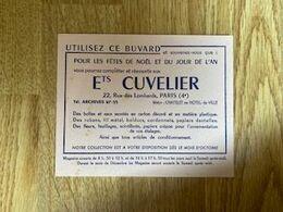 V P : Buvard :  Ets  Cuvelier  , Paris  4 Em - Löschblätter, Heftumschläge