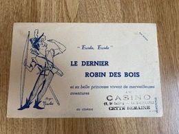 V P : Buvard :  Le  Dernier  Robin Des  Bois , Au  Casino , Illustrateur Roger  Nicolas - Löschblätter, Heftumschläge