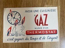 V P : Buvard :  Gaz , Thermostat - Löschblätter, Heftumschläge