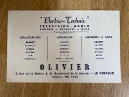 V P : Buvard :electro  Technic , Olivier , Le  Perreux - Löschblätter, Heftumschläge