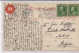 """ANTWERPEN-ANVERS""""RED STAR LINE-PK VERZONDEN NEW YORK BROOKLYN NAAR ANTWERPEN 1911"""" - Antwerpen"""