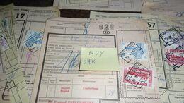 27 Stuks ! --- Vrachtbrief  Met Stempel : HUY__ ( Lot : Ismo 11 ) - Chemins De Fer
