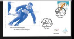 Serbia & Montenegro FDC 2006 Torino Olympic Games (NB**LAR9-156) - Winter 2006: Torino